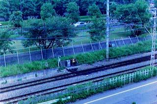 西立川駅プラットフォーム跡